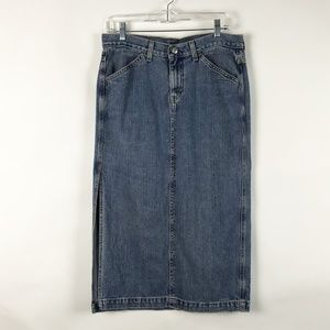 Levis Denim Surplus Skirt Side Slit Skirt 8 Petit